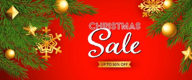 Kerst verkoop feestelijke banner