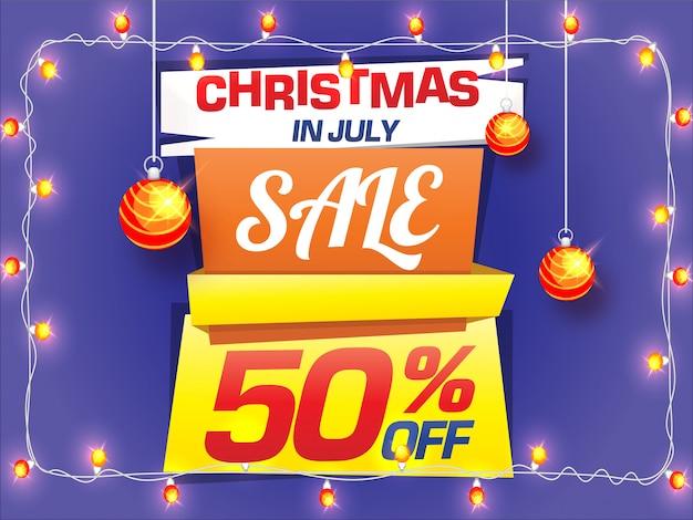 Kerst verkoop flyer ontwerp.