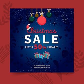 Kerst verkoop flyer vierkant
