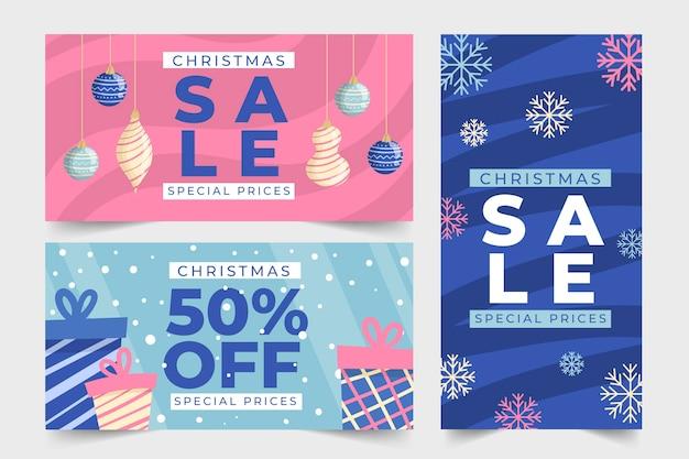 Kerst verkoop handgetekende banners