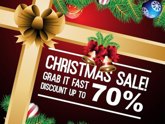 Kerst verkoop illustratie ontwerp