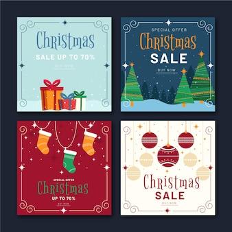 Kerst verkoop instagram-berichten
