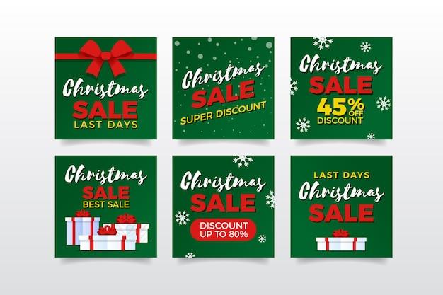 Kerst verkoop instagram post collectie
