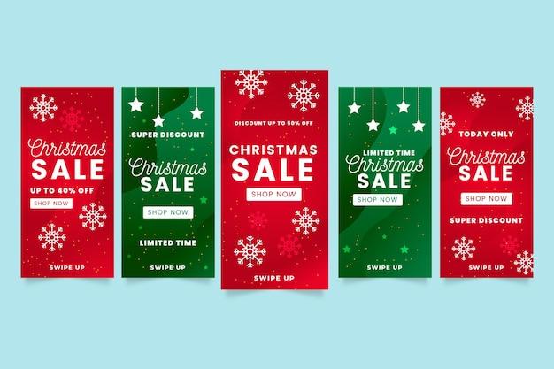 Kerst verkoop instagram verhalen pack