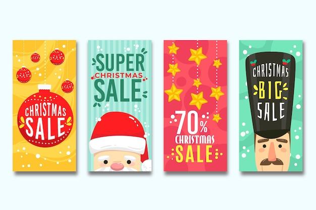 Kerst verkoop instagram verhalen