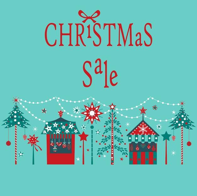 Kerst verkoop kaart.