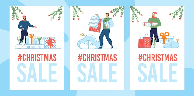 Kerst verkoop kaartenset