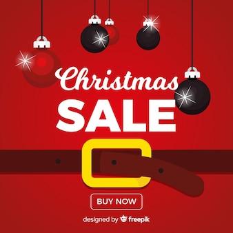 Kerst verkoop kerstman achtergrond