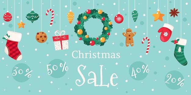 Kerst verkoop. kerstversiering collectie.