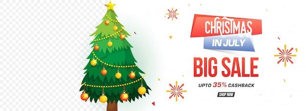 Kerst verkoop kop met xmas tree.