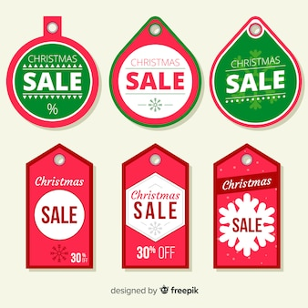 Kerst verkoop label pack