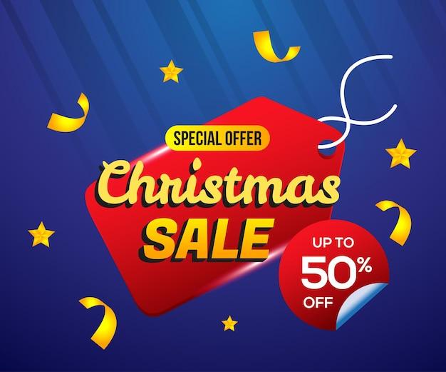 Kerst verkoop label prijskaartje achtergrond