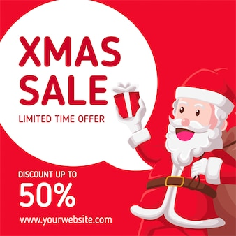 Kerst verkoop met de kerstman