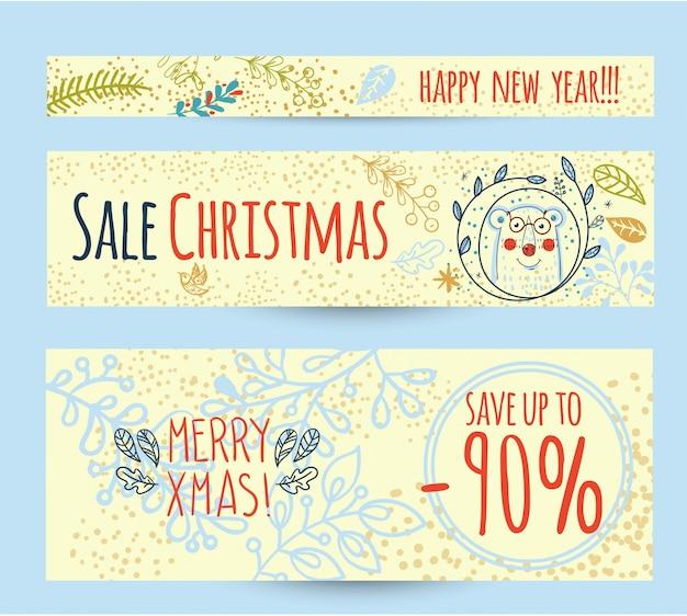 Kerst verkoop ontwerpsjabloon webbanner