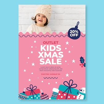 Kerst verkoop poster a4