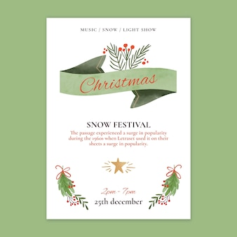 Kerst verkoop poster sjabloon