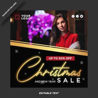 Kerst verkoop promotie instagram sjabloon
