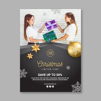 Kerst verkoop sjabloon folder