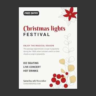Kerst verkoop sjabloon poster