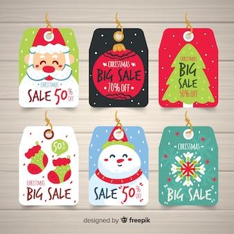 Kerst verkoop tag-collectie