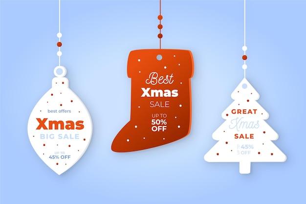 Kerst verkoop tag collectie