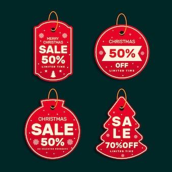 Kerst verkoop tage collectie