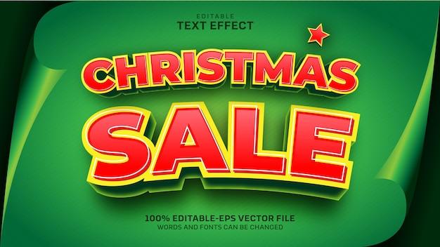 Kerst verkoop teksteffect