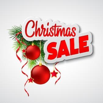 Kerst verkoop. vector illustratie sjabloon eps 10