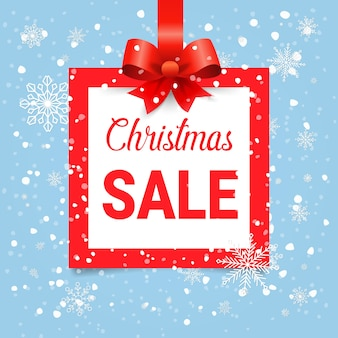Kerst verkoop vierkant en pictogram.