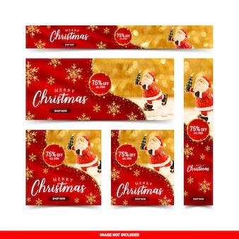 Kerst verkoop webbanners sjabloon set