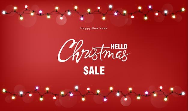 Kerst verkoop wenskaart