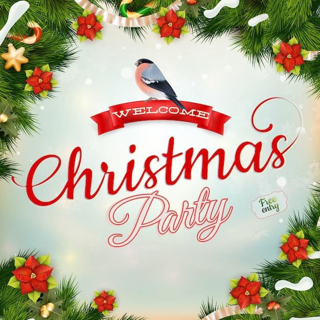 Kerst vintage achtergrond met kerstballen en kerstboom.