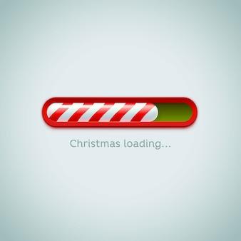 Kerst voortgangsbalk