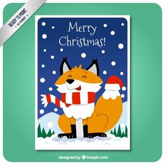 Kerst vos kaart