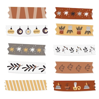 Kerst washi tape collectie.