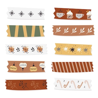 Kerst washi tapes collectie.