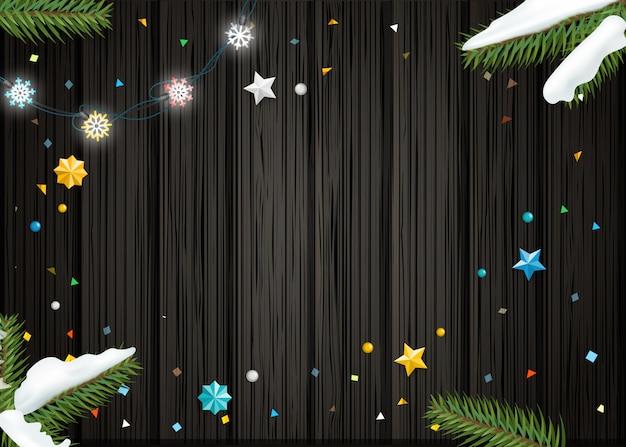 Kerst wensen kaartsjabloon.