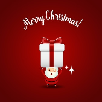 Kerst wenskaart met kerst kerstman