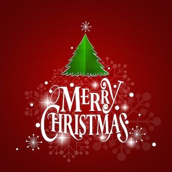 Kerst wenskaart. vrolijk kerstfeest belettering