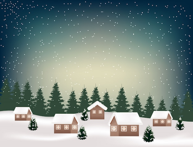 Kerst winter achtergrond vector