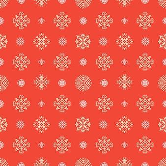 Kerst winter vakantie sneeuwvlokken pixel naadloze achtergrond. patroon