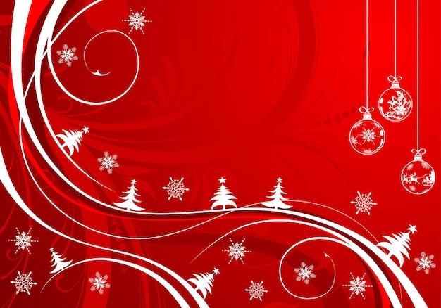 Kerstachtergrond met bol en golfpatroon, element voor ontwerp, vectorillustratie