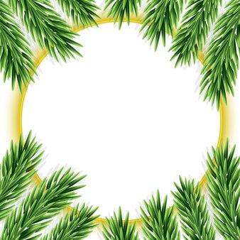 Kerstachtergrond met dennentakken vectorillustratie