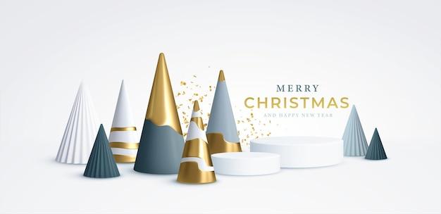 Kerstachtergrond met kerstbomen