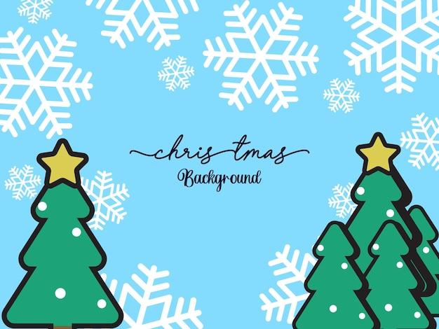Kerstachtergrond met plat ontwerp
