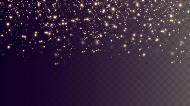 Kerstachtergrond poeder png magisch glanzend goudstof fijne glanzende stofdeeltjes vallen