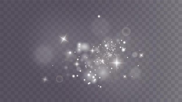 Kerstachtergrond poeder png magisch glanzend wit stof fijne glanzende stofdeeltjes vallen