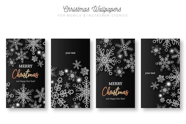 Kerstachtergronden voor mobiele en instagramverhalen