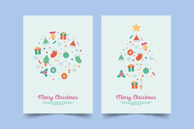 Kerstaffiche met kleurrijke geometrische vormen