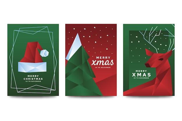 Kerstaffichemalplaatje in veelhoekige stijl